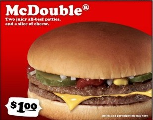 McDonald's McDouble – Greatest Most Bountiful Source of Nutrition